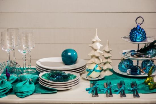 Decoração Mesa de Natal Azul - Laguna