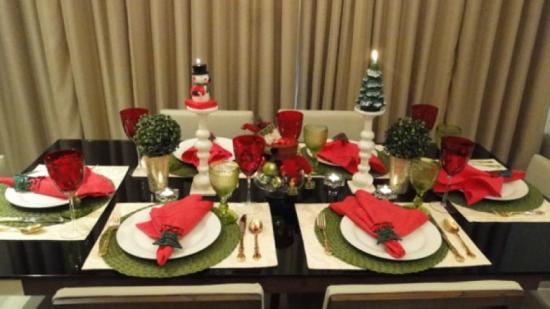 Decoração Mesa de Natal Verde - Laguna