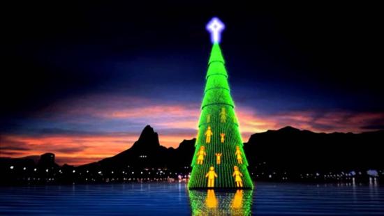 Árvore de Natal Lagoa Rodrigo de Freitas RJ - Laguna