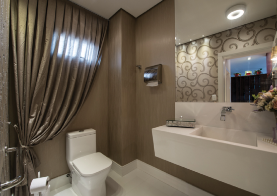 Banheiro papel de parede arabesco - Laguna
