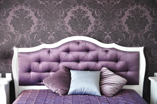 Papel de parede arabesco roxo - Laguna