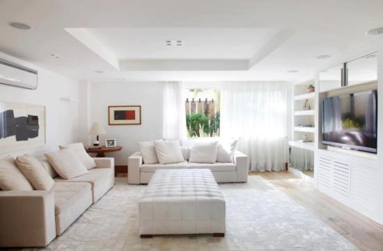 Como Montar Uma Sala De Tv Moderna ~ Inspiração para salas de TV contemporâneas  Blog Laguna