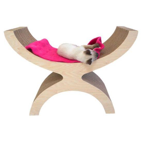 Couchette Modern Recycled Paper Cat Perch - Laguna