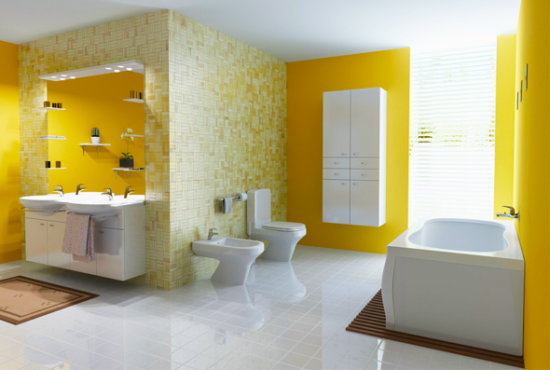 Banheiro amarelo - Laguna