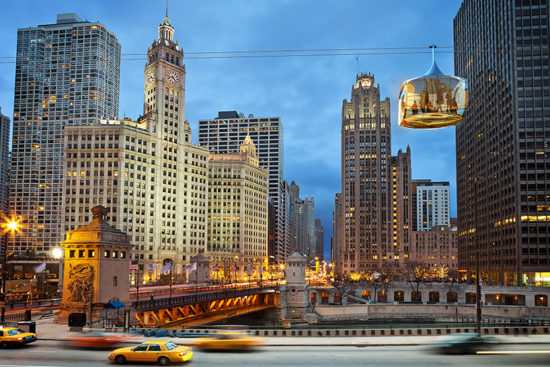 Teleférico Chicago - Laguna