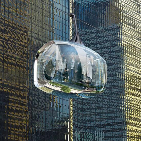 Teleférico de vidro Chicago Marks Barfield Architects- Laguna