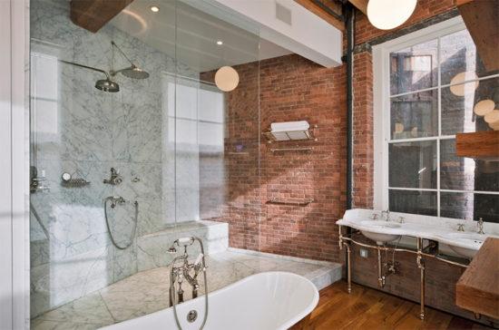 Banheiro com tijolinho - Laguna
