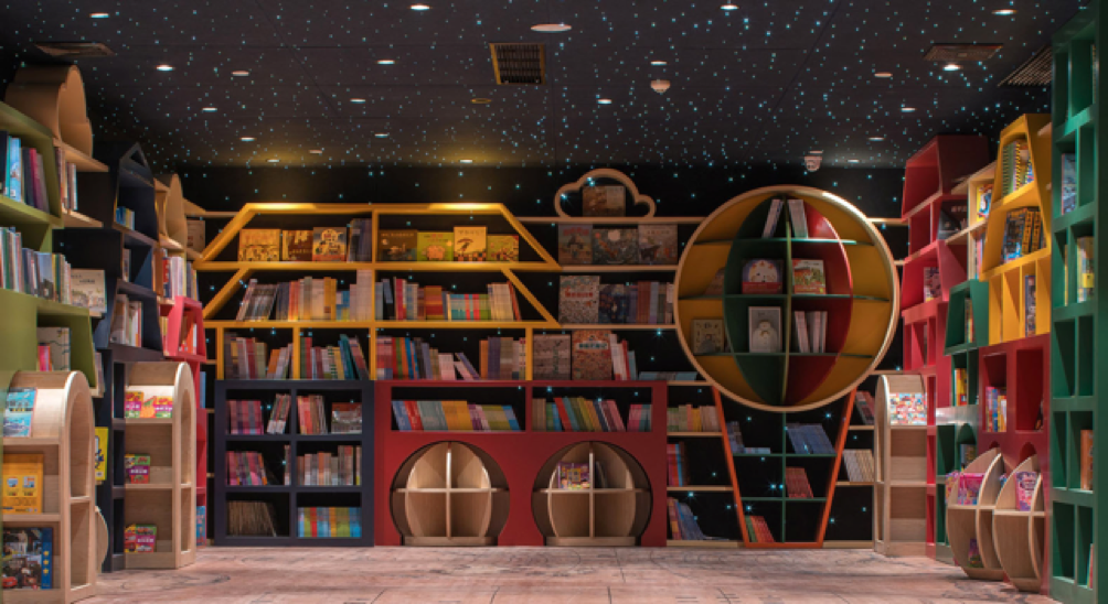 Área infantil biblioteca Yangzhou Zhongshuge - Laguna