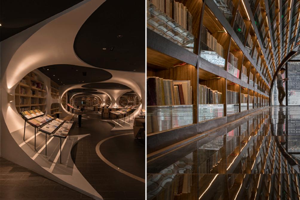Arquitetura biblioteca Yangzhou Zhongshuge - Laguna