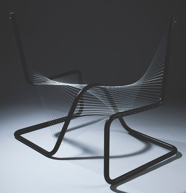 Cadeira inspirada em desenhos de Leonardo Da Vinci - Laguna