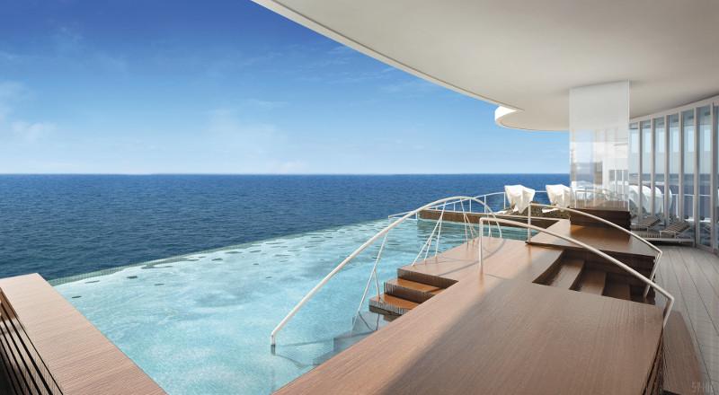 Piscina borda infinita Seven Seas Explorer - Laguna
