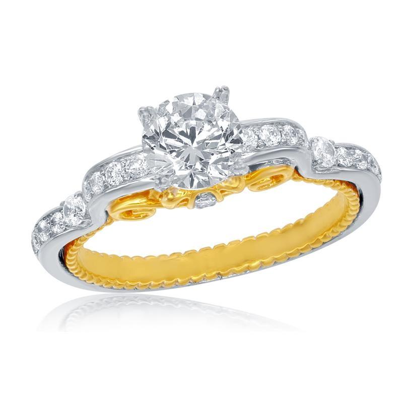 Cinderela anel de noivado ouro amarelo - Laguna