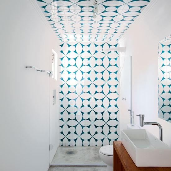 Banheiro com geometrismo - Laguna