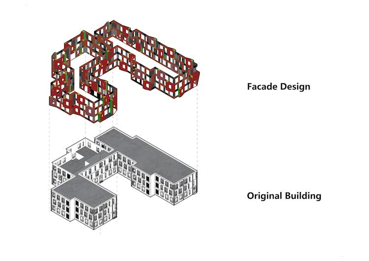 Pequim tem escola com fachada tridimensional colorida - Construtora Laguna