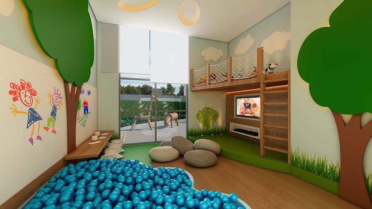 Apartamento com áreas de lazer para crianças e adolescentes - Construtora Laguna