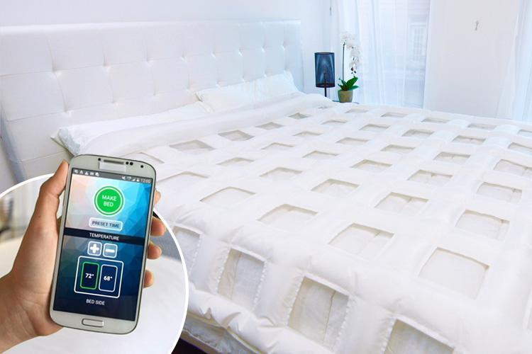 Edredom inteligente regula temperatura para cada lado da cama - Construtora Laguna