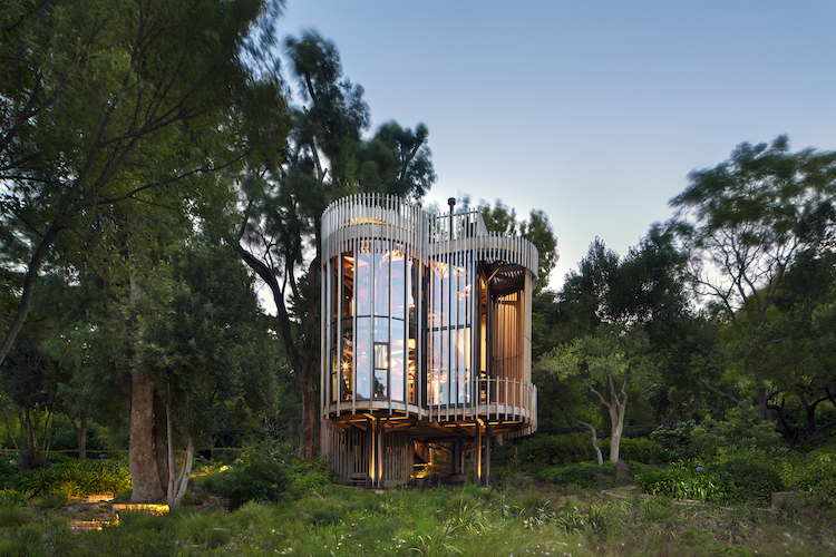 Casa cilindrica na arvore Africa do Sul Cidade do Cabo Malan Vorster - Construtora Laguna