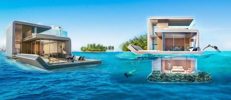 Casa submersa em Dubai - Construtora Laguna