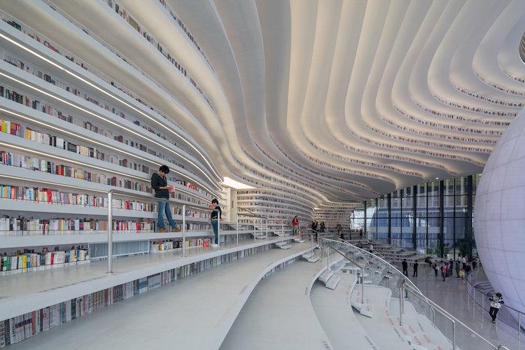 Biblioteca chinesa inaugura com design inspirado nos olhos - Construtora Laguna