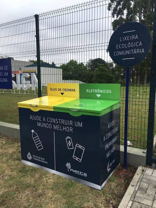 Laguna oferece ponto com lixeira ecológica no Cabral - Construtora Laguna