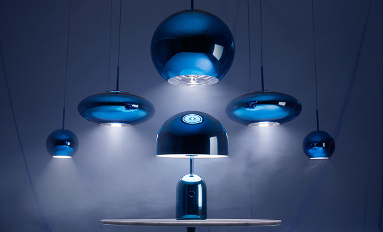 Blue, Black and Silver: as luminárias futuristas de Tom Dixon