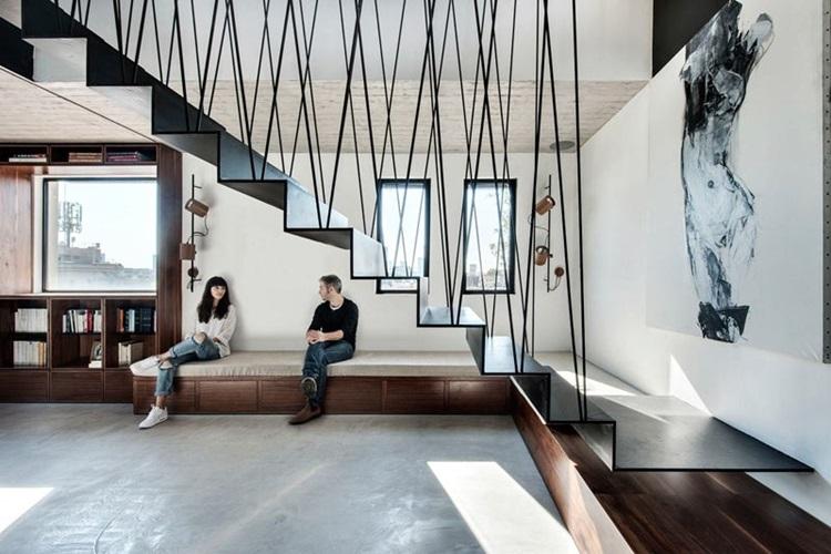 Decoração de residências duplex Escada - Construtora Laguna