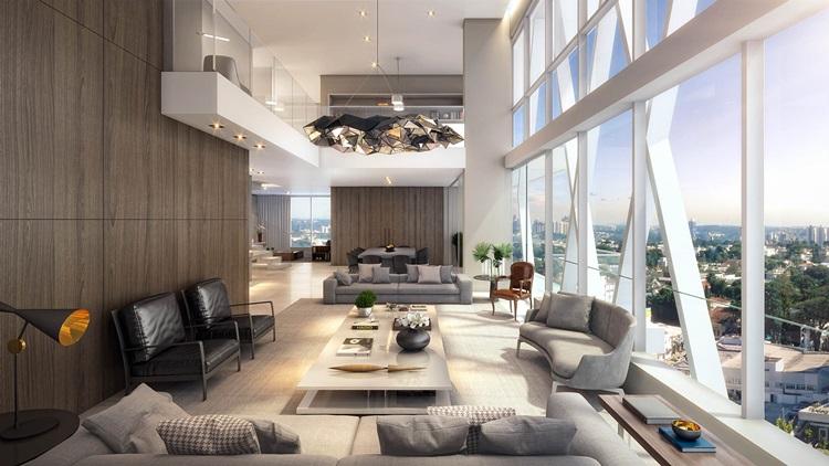 Decoração de residências duplex LLUM - Construtora Laguna