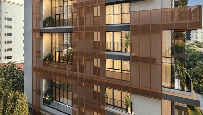 Decoração de residências duplex ROC Fachada - Construtora Laguna