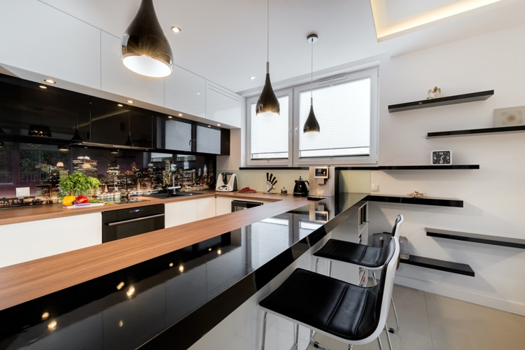 Tendência 2018 cozinha preta - Construtora Laguna