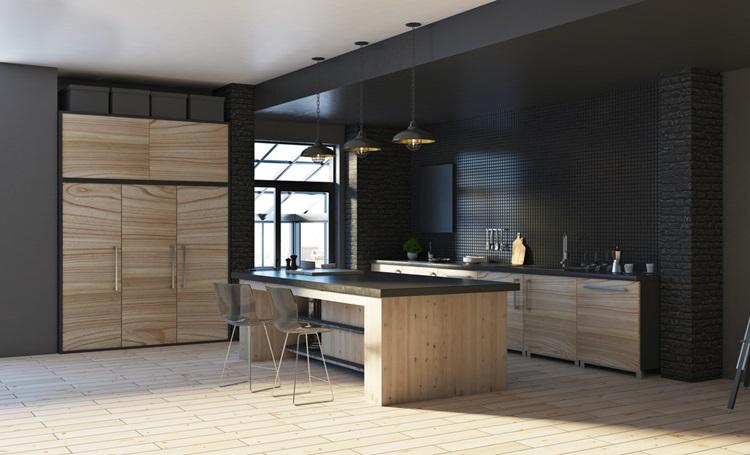 Tendência 2018 cozinha preta, parede preta - Construtora Laguna