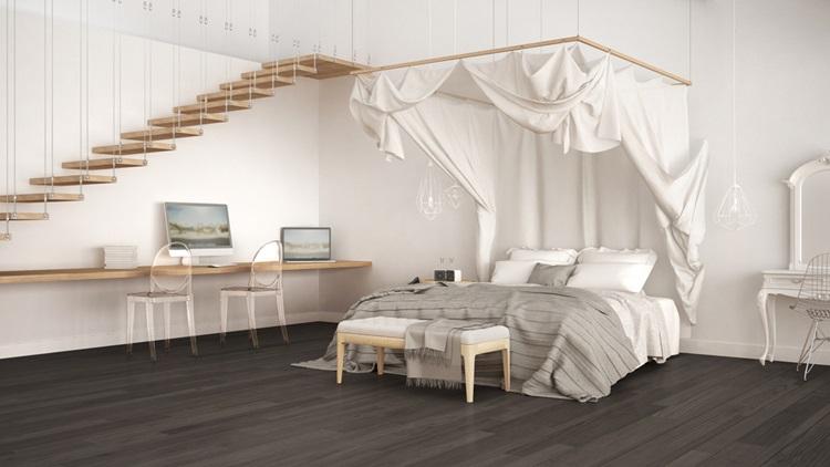 Do clássico ao moderno, confira camas com dossel - contemporâneo - Construtora Laguna