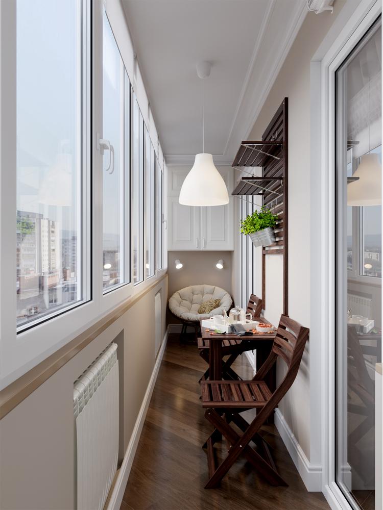 Ideias para decorar varandas fechadas - cadeiras dobráveis - Construtora Laguna
