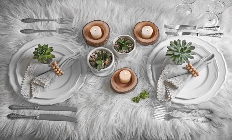 Use elementos orgânicos também na decoração da mesa - Construtora Laguna