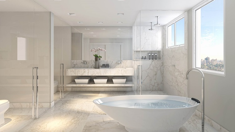 O que estará em alta na decoração de interiores em 2019 - Banheira -Construtora Laguna