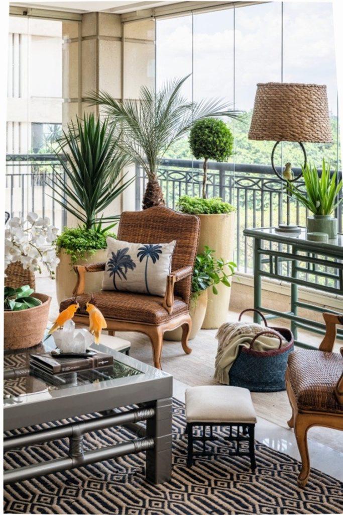 Varandas com elementos naturais e cores tropicais - Daniela Colnagh - Construtora Laguna