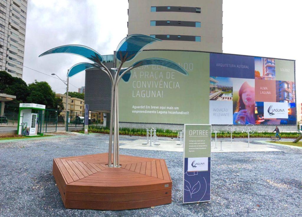 OPTree - design e sustentabilidade na Praça de Convivência Laguna - Construtora Laguna