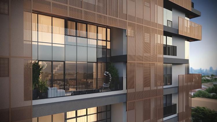 Inspirações modernas de esquadrias compondo a decoração - Construtora Laguna