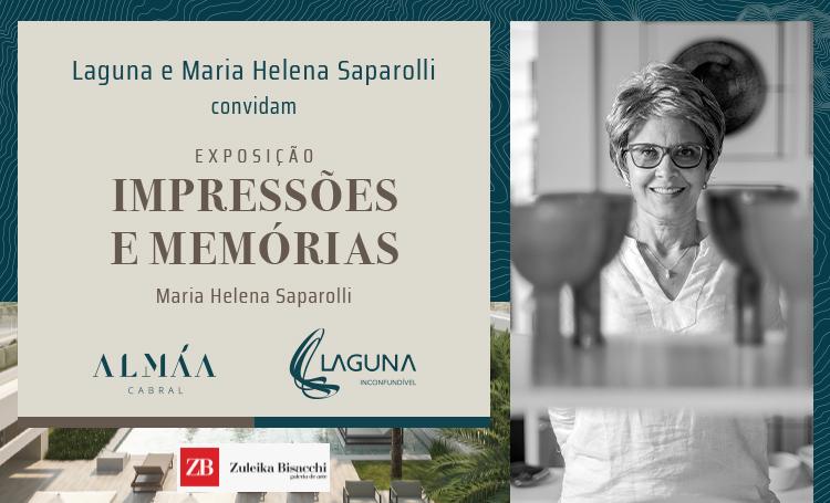 Maria Helena Saparolli lançará exposição no ALMÁA Cabral - Construtora Laguna