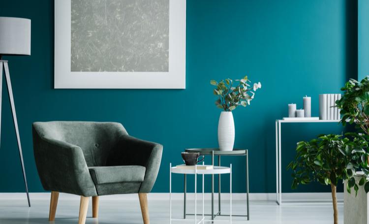 Sala com cores na decoração em destaque - LAGUNA
