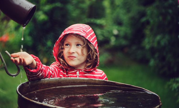 local para captação de água da chuva - LAGUNA