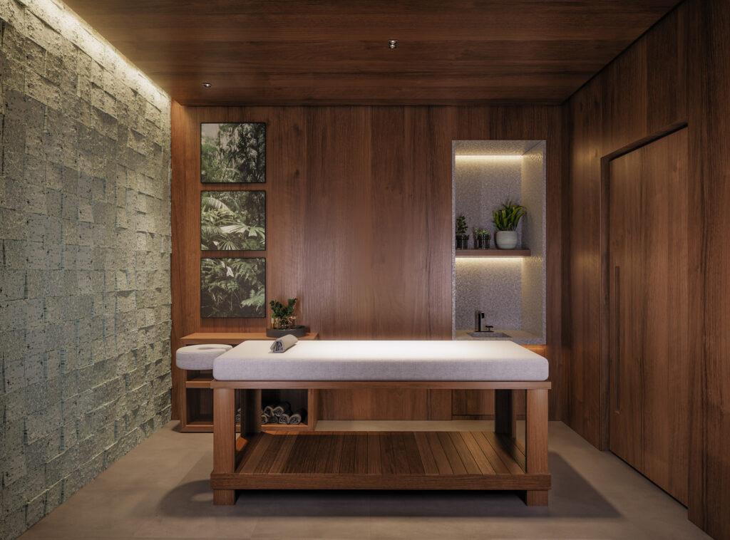 Sala de massagem do empreendimento PINAH da Construtora Laguna