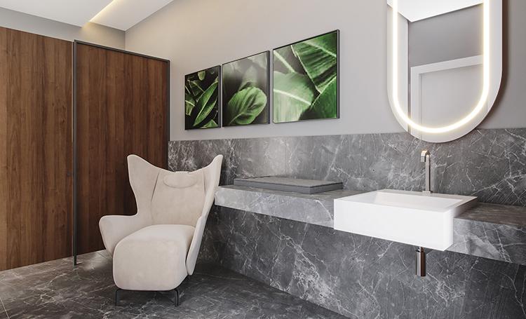 Banheiro conceito do PINAH