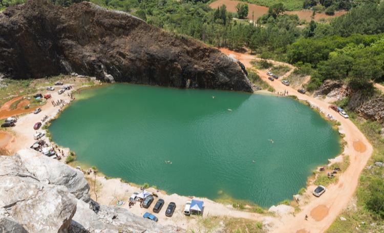 Lagoa Azul, localizada em Campo Magro