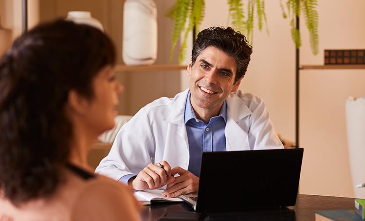 Exame médico dentro do empreendimento BIOOS